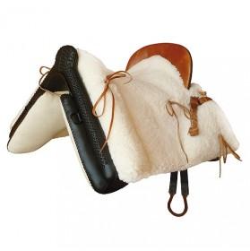 Silla vaquera Marjoman completa moteada piel de cordero