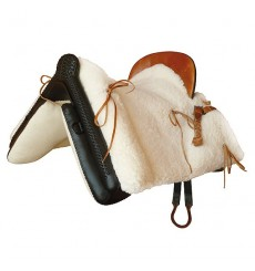 Silla vaquera completa moteada piel de cordero