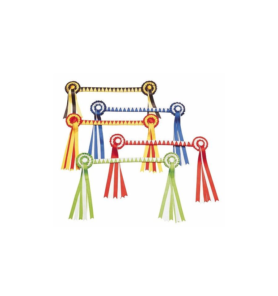 Frontalera con cucardas en colores