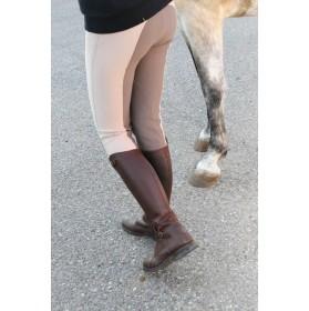 Pantalones de montar para mujer bicolor