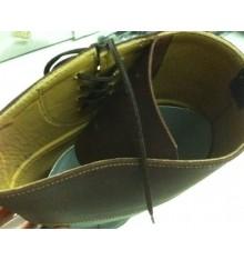 Botas hípicas de serraje con cordón lateral