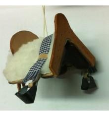 Silla vaquera en miniatura para coche
