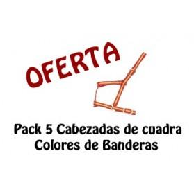 Pack 5 Cabezadas Cuadra Banderas