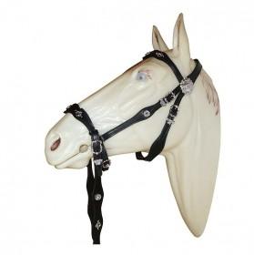 Cortezia Portuguese bridle single reins without bit