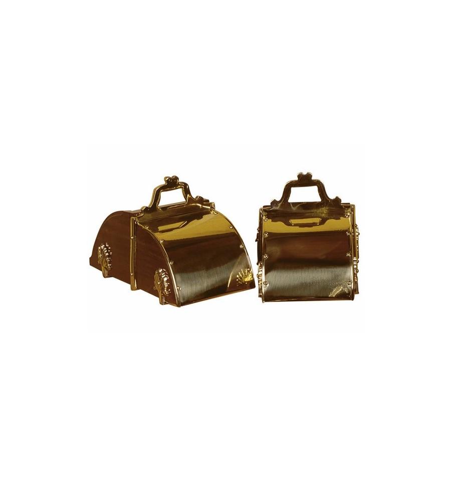 Estribos de caja niquelados/dorados estilo portugués