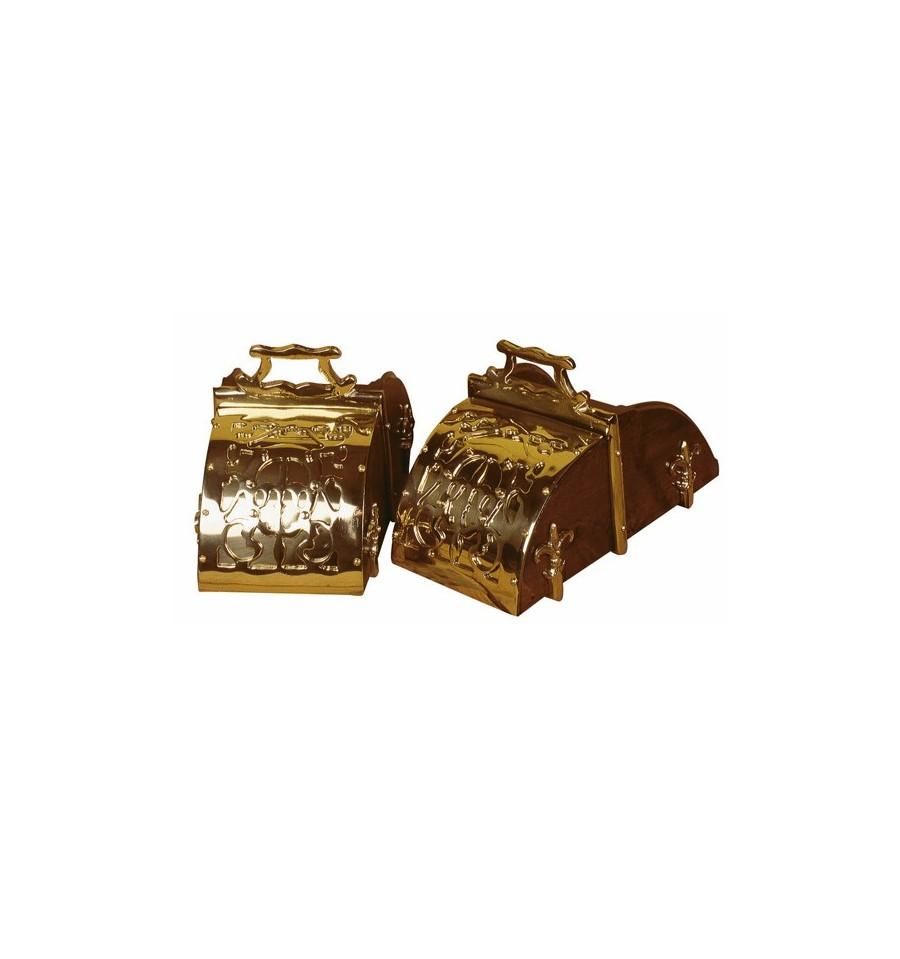 Estribos de caja labrados niquelados/dorados