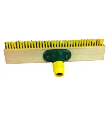 Cepillo para cuadra o pista con mango extensible