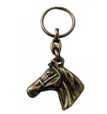 Llavero cabeza caballo en bronce