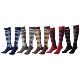 Calcetines de Rombos para equitación Tattini