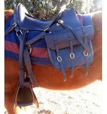 Alforja en cuero barata para caballo