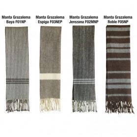 Manta estribera de lana Grazalema