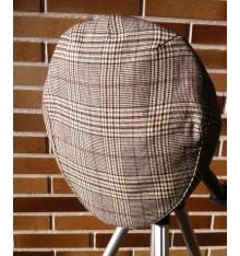 Gorra campera de verano marrón cuadros azules