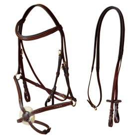 Mexican Bridle with rubber reins