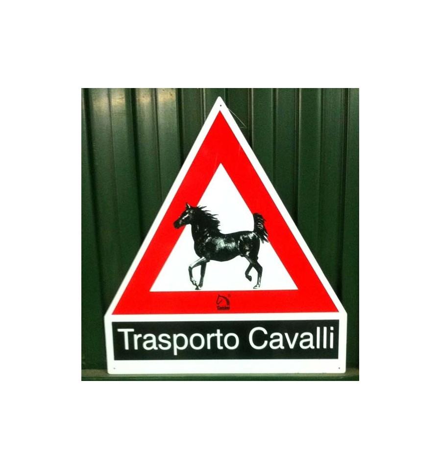 Cartel precaución Transporte de caballos