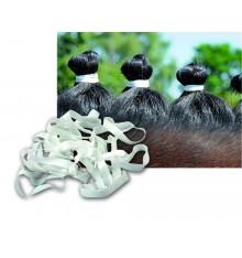 Gomas anchas para crines color blanco