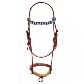 Cabezada de presentación para caballos con frontalera adornada