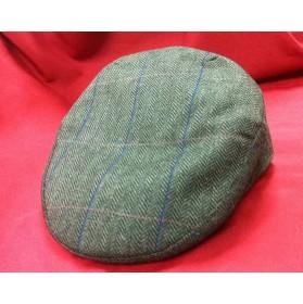 Gorra campera de invierno verde listas azules