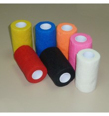 Self-adhesive colorful bandages for horses