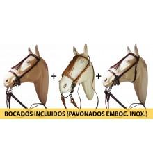 Pack 3 Cabezadas Vaqueras +  Bocado vaquero