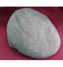 Gorra campera de invierno marrón cuadro grande