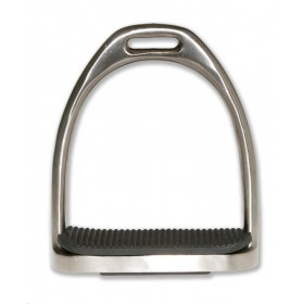 Estribo inglés de aluminio hueco con taco Tattini