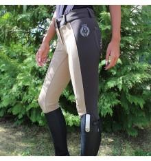 Pantalón equitación elástico bicolor Monaco