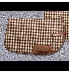 Sudadero de lana Camargués con ribete de cuero