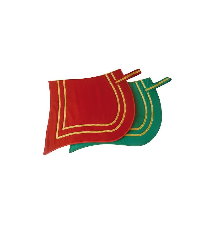 Mantilla para caballo de lana con pico cerrado