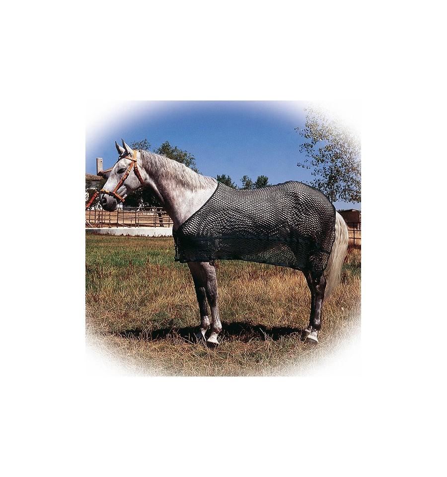 Manta antisudor de malla para caballo