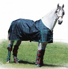 Manta impermeable con cubrecolas para caballo