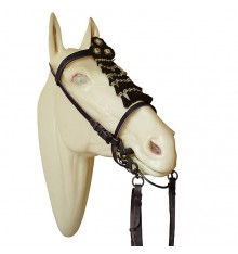 Vaquera Bridle  with horse hair mosquero