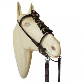 Vaquera Bridle  with horse hair mosquero
