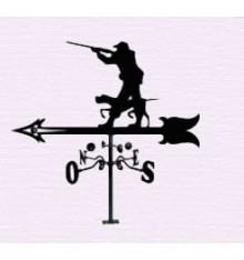 Veleta de cazador con escopeta