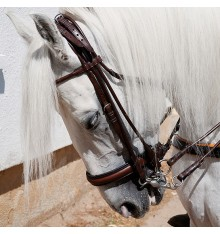 Sewn Round Bridle double reins