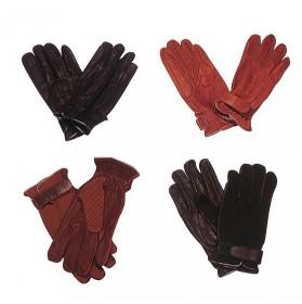 Guantes equitación Cuero-Textil