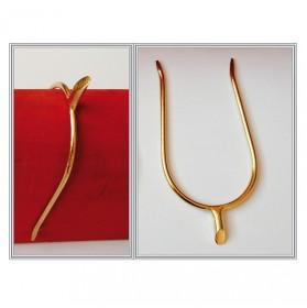 Espuelín portugués dorado gallo corto recto