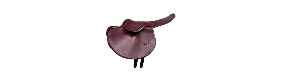 Horse race saddles